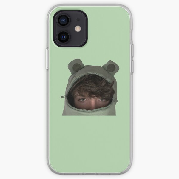 Karl Jacobs in a frog hoodie iPhone Soft Case RB1006 product Offical Karl Jacobs Merch