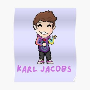Karl jacobs mcyts poggers dream team purple sapnap  Poster RB1006 product Offical Karl Jacobs Merch