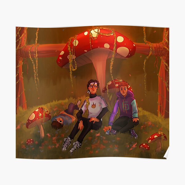 Karl, Sapnap, and Karl Mushroom - Dream SMP Poster RB1006 product Offical Karl Jacobs Merch