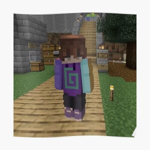 Karl Jacobs Minecraft | Dream SMP Poster RB1006 product Offical Karl Jacobs Merch
