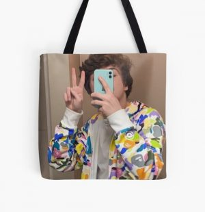 Karl Jacobs | Selfie | Dream SMP | Tales from the SMP All Over Print Tote Bag RB1006 product Offical Karl Jacobs Merch