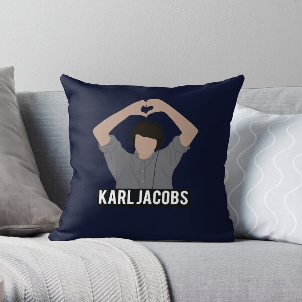 Copy of karl jackobs youtuber Throw Pillow RB1006 product Offical Karl Jacobs Merch