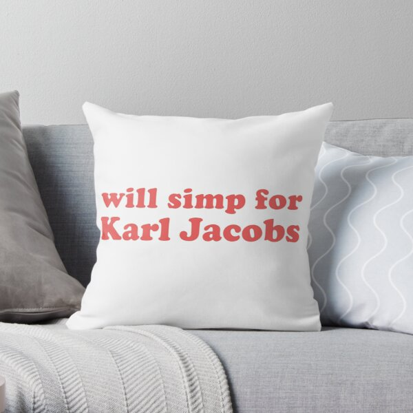 will simp for karl jacobs karl jacobs simp Throw Pillow RB1006 product Offical Karl Jacobs Merch