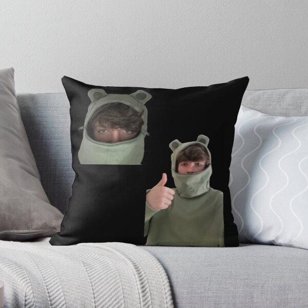 Karl Jacobs Frog Throw Pillow RB1006 product Offical Karl Jacobs Merch