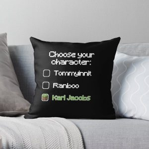 Choose your character - Karl Jacobs Throw Pillow RB1006 product Offical Karl Jacobs Merch