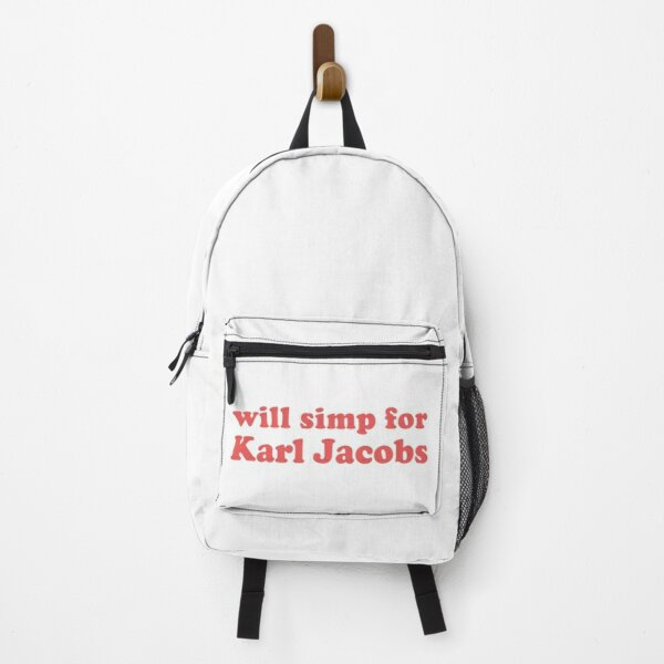 will simp for karl jacobs karl jacobs simp Backpack RB1006 product Offical Karl Jacobs Merch