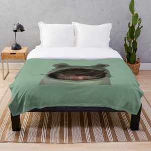 Karl Jacobs in a frog hoodie Throw Blanket RB1006 product Offical Karl Jacobs Merch