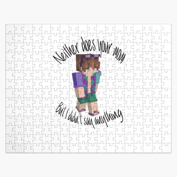 Karl Jacobs SMP funny Quote Sticker  Jigsaw Puzzle RB1006 product Offical Karl Jacobs Merch