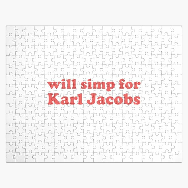 will simp for karl jacobs karl jacobs simp Jigsaw Puzzle RB1006 product Offical Karl Jacobs Merch