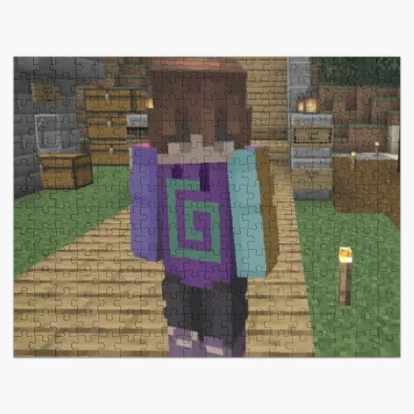 Karl Jacobs Minecraft | Dream SMP Jigsaw Puzzle RB1006 product Offical Karl Jacobs Merch