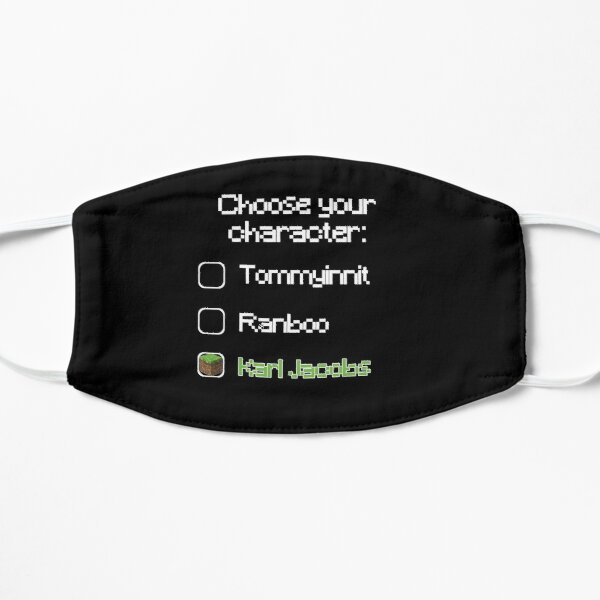 Choose your character - Karl Jacobs Flat Mask RB1006 product Offical Karl Jacobs Merch