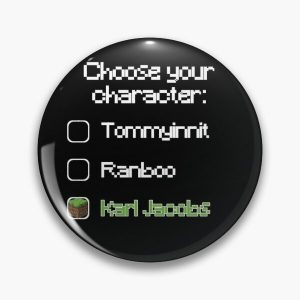 Choose your character - Karl Jacobs Pin RB1006 product Offical Karl Jacobs Merch